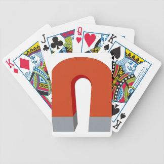 Horseshoe Magnet Bicycle Playing Cards