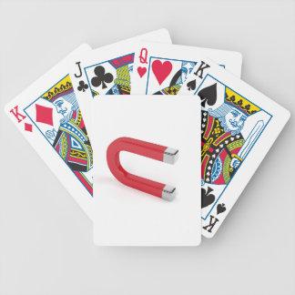 Horseshoe magnet bicycle playing cards