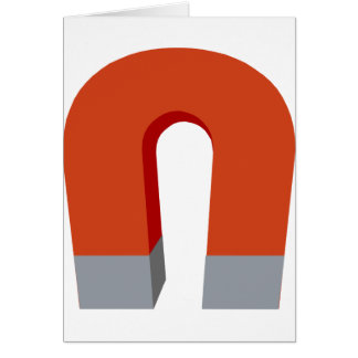 Horseshoe Magnet Card