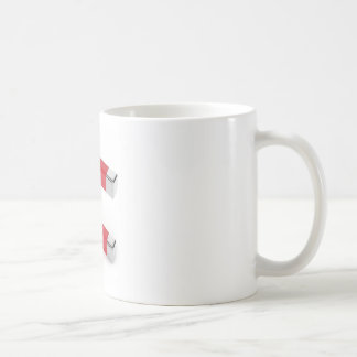 Horseshoe magnet coffee mug
