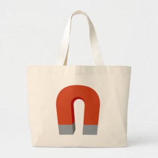 Horseshoe Magnet Large Tote Bag