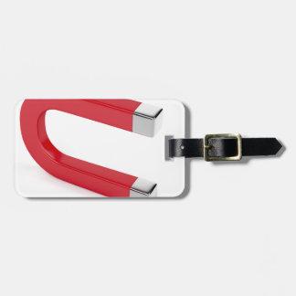 Horseshoe magnet luggage tag