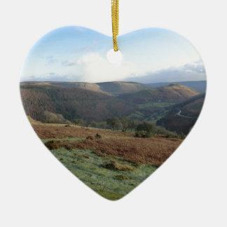 Horseshoe Pass, Denbighshire, Wales Ceramic Ornament