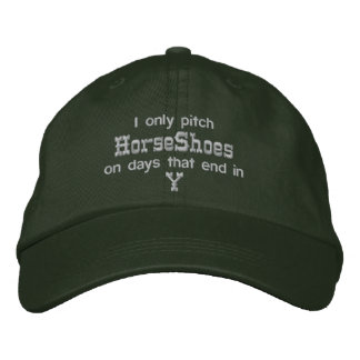 HorseShoe Pitching Adjustable Cap Baseball Cap