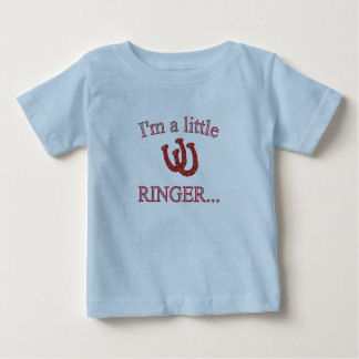 HorseShoe Pitching Infant T-Shirt-Lite Blue Baby T-Shirt