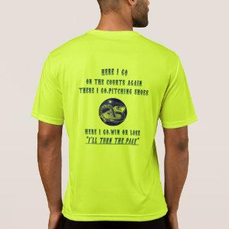 HorseShoe Pitching Sport Tek Tee...  Turn the Page T-Shirt