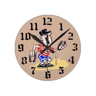 HorseShoe Pitching Wall Clock