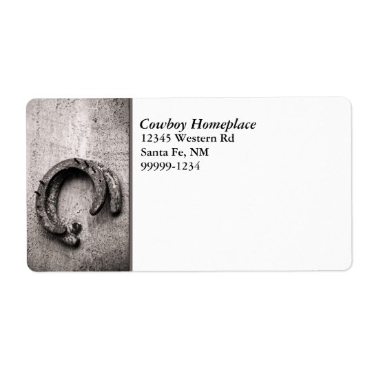 Horseshoe Vintage Sepia Photograph Shipping Label