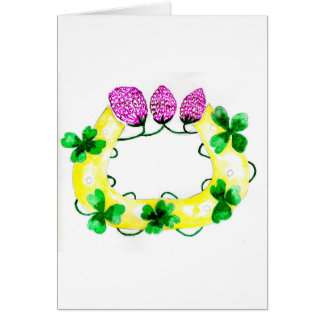 Horseshoe with Clover Card
