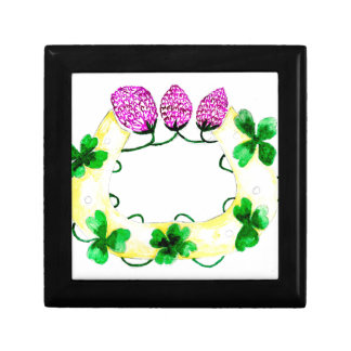 Horseshoe with Clover Gift Box