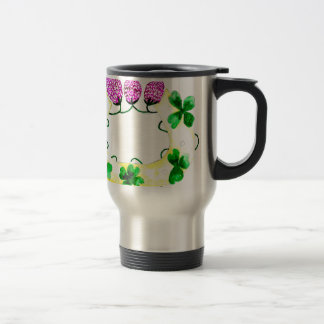 Horseshoe with Clover Travel Mug