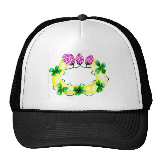 Horseshoe with Clover Trucker Hat