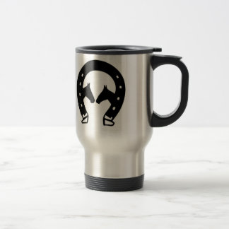 Horseshoe with Horses Travel Mug