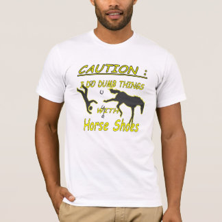 HorseShoes Caution American Apparel Tee