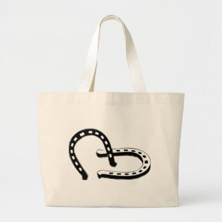 Horseshoes Large Tote Bag