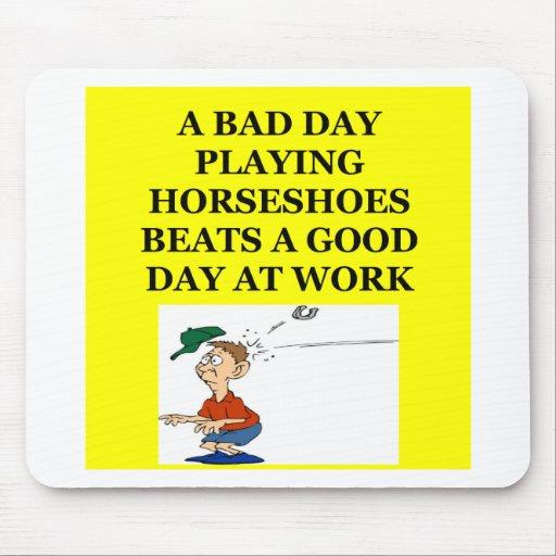 horseshoes mousepad