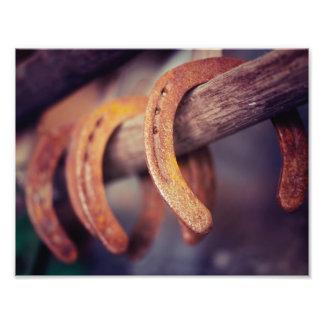 Horseshoes on Barn Wood Cowboy Country Western Photo