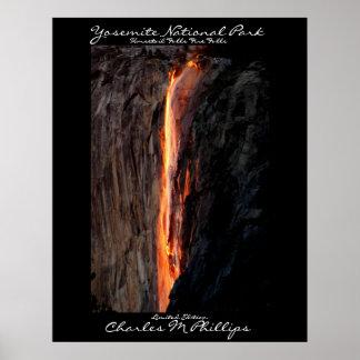 Horsetail  falls Fire Falls Poster