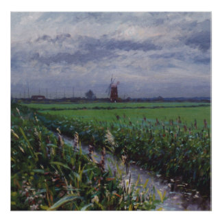 Horsey windmill Norfolk Poster