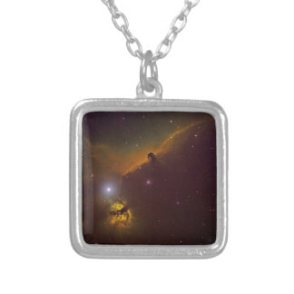Horshead Nebula Silver Plated Necklace