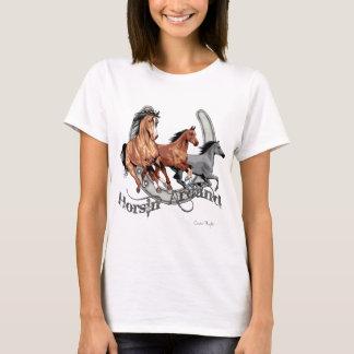 Horsin autour de la vitesse de l'amant de cheval t-shirt