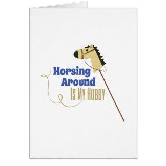 Horsing Around Card