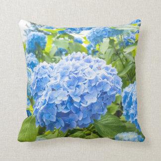 Hortensia bleu, coussin de jardin