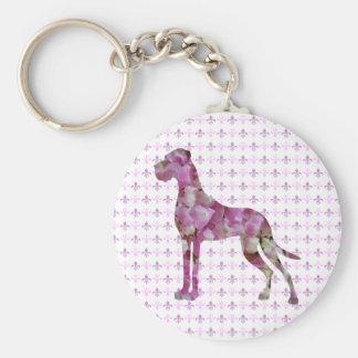 Hortensien Dogge Keychain