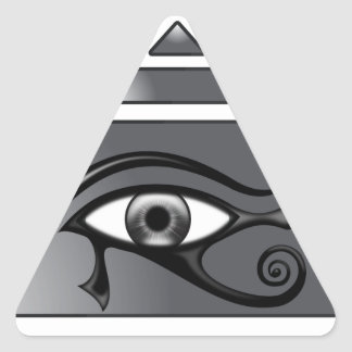 Horus pyramid triangle sticker