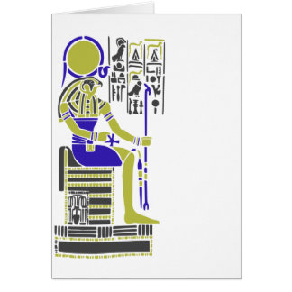Horus the Hawk Egyption Heiroglyph Card