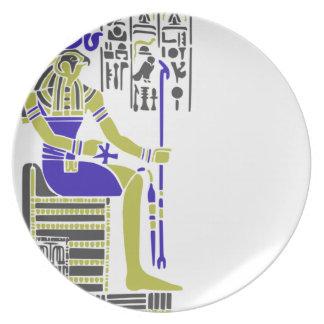 Horus the Hawk Egyption Heiroglyph Plate