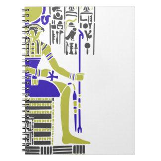 Horus the Hawk Egyption Heiroglyph Spiral Notebook