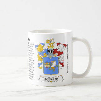 Horvath Family Hungarian Coat of Arm mug