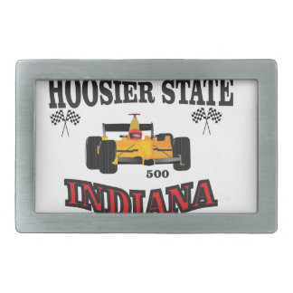hosier state art rectangular belt buckle