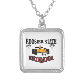hosier state art silver plated necklace