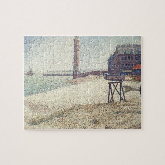 Hospice and Lighthouse, Honfleur by Georges Seurat Jigsaw Puzzle