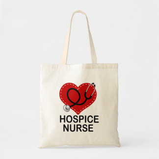 Hospice Nurse Heart Stethoscope Tote Bag