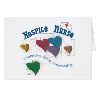 Hospice Nurse Multi Colored Hearts Card