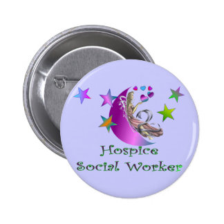 Hospice Social Worker 2 Inch Round Button