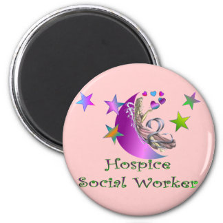 Hospice Social Worker 2 Inch Round Magnet