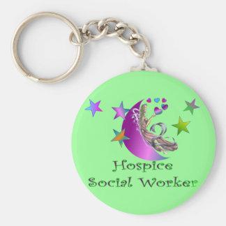 Hospice Social Worker Basic Round Button Keychain
