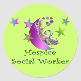 Hospice Social Worker Classic Round Sticker