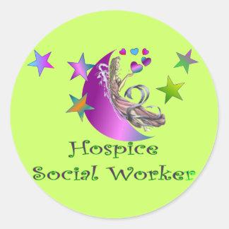 Hospice Social Worker Round Sticker