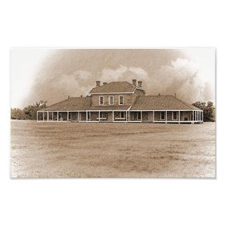 Hospital at Ft. Richardson Texas Photo Print