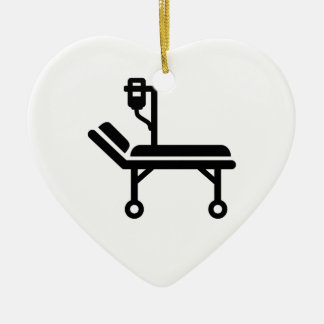 Hospital bed ceramic ornament