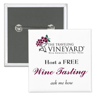 Host a Free Wine Tasting 2 Inch Square Button