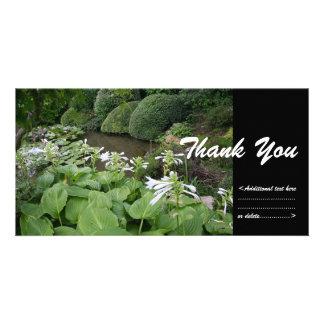 Hosta in a Zen Garden 2 - Thank You Personalized Photo Card