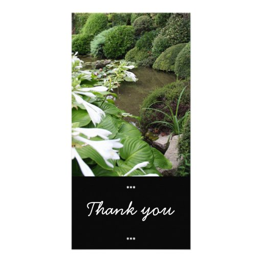 Hosta in a Zen Garden - Thank You cards Personalized Photo Card