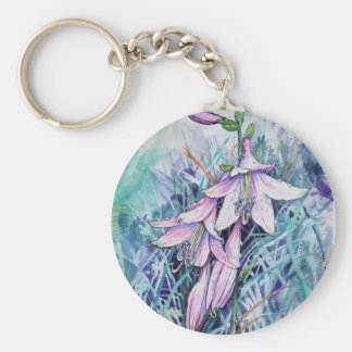 Hosta in bloom keychain