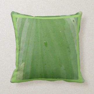 hosta leaf, almost solid green pillow